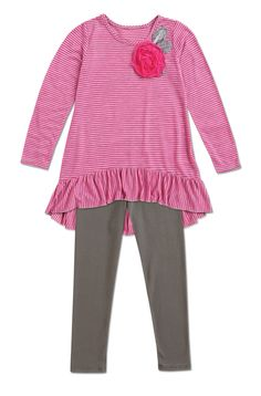 From CWDkids: Stripe Top & Leggings Set