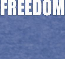 FREEDOM in a block font by wolfman57