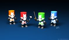 Simple 3D character models, where colors can be changed to denote different players