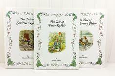 Beatrix Potter The Tale of Peter Rabbit, Squirrel Nutkin, Mr Jeremy Fisher, 1996 Warne Oversize Books by naturegirl22 on Etsy