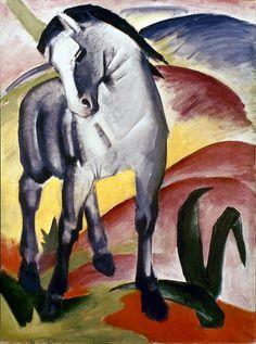 Marc: Grey Horse, 1911 Photograph - Marc: Grey Horse, 1911 Fine Art Print -
