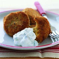 Crispy Falafel with Yogurt Dip | MyRecipes