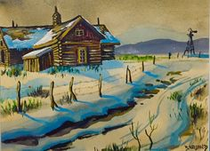 ChildhoodART of Robert Lyn Nelson Watercolor/paper 1972 LAKE TAHOE 9x12  @robertlynnelson.com