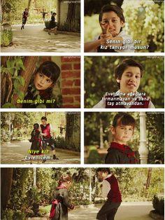 Feride and Kamran as children