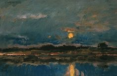 Landscape at Moonlight, ca. 1875 Charles-Francois Daubigny
