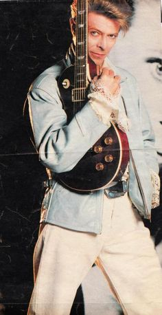 Bowie and guitar