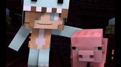 """Minecraft Song and Minecraft Animation """"Gimme Back My Pig"""" Psycho Girls Little Sister Minecraft Song - YouTube"""