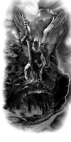 guardian angel oracle heaven love personality test archangel raguel archangel uriel archangel jophiel archangel Miguel archangel gabriel Archangel Michael defeats the Devil St. Michael Tattoo, Archangel Michael Tattoo, Archangel Gabriel, Angel Warrior Tattoo, Guardian Angel Tattoo, Warrior Tattoos, Angels Tattoo, Angel Devil Tattoo, Warrior Tattoo Sleeve