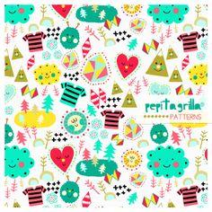 www.pepitagrilla.com Electronics, Valencia, Pattern, Illustrations, Fabrics, Patterns, Illustration, Consumer Electronics, Character Illustration