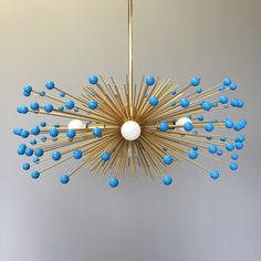 5-Bulb Brass Turquoise Beaded Urchin Chandelier Lighting by DuttonBrown on Etsy https://www.etsy.com/listing/150463271/5-bulb-brass-turquoise-beaded-urchin