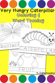 Very Hungry Caterpillar Do-a-Dot Pack   Totschooling - Toddler and Preschool Educational Printable Activities