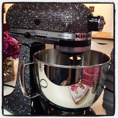 Turn the ordinary into extraordinary! Such a cool idea to bling out KitchenAid mixer! Kitchen Aid Mixer, Kitchen Tools, Kitchen Gadgets, Kitchen Dining, Kitchen Decor, Kitchen Appliances, Kitchens, House Gadgets, Kitchen Utensils