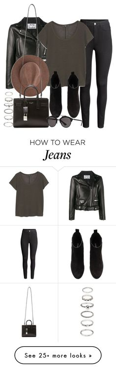 """Sin título #12012"" by vany-alvarado on Polyvore featuring H&M, Acne Studios, MANGO, Yves Saint Laurent, Christian Dior and Forever 21"