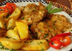 Marinované kuřecí řízky z trouby Tandoori Chicken, Pork, Food And Drink, Meat, Cooking, Ethnic Recipes, Foods, Chicken, Kale Stir Fry