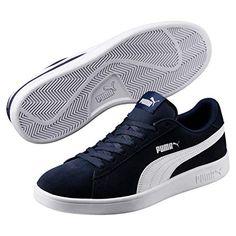 Puma Smash v2 Leather, Baskets de Cross mixte adulte, Blanc (Puma White Puma Black), 43 EU (9 UK)