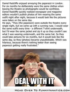 Funny pictures about Troll Daniel Radcliffe. Oh, and cool pics about Troll Daniel Radcliffe. Also, Troll Daniel Radcliffe photos. Harry Potter Jokes, Harry Potter Fandom, Harry Potter Fun Facts, Potter Facts, Fandoms, Doug Funnie, Fans D'harry Potter, Excuse Moi, Plus Tv