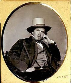 """Portrait of a Gentleman Sixth-plate daguerreotype by Lorenzo G. Chase, Boston Between 1844 and 1856, Chase had three different locations on Washington Street in Boston. In 1851, a reviewer noted the """"world-wide reknown"""" of Chase's daguerreotypes. He was in gold-rush California in 1852, but returned to Boston before the end of that year."""