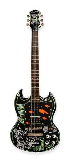 Electric xray custom painted guitar