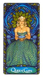 November 10 Tarot Card: Queen of Cups (Art Nouveau deck) Open your heart and let in the world now. This is a beautiful time of love, depth, and feeling