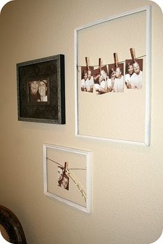 DIY frames, could display artwork in the playroom