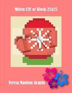 (4) Name: 'Crocheting : Mitten 25x25