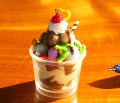 Dollhouse Miniatures Ice Cream in bowl. by Miniaturesbynan, $3.00