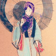 Virtual Memory, Makita, Japanese Art, Korea, Kimono, Culture, China, Drawings, Illustration