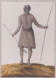 While colonial French Canada may not have a plantation-based economy like the American South or the West Indies, slavery was still a fact of life, albeit on a smaller scale. However, the main source of slaves was not Africa, but First Nations people from further inland who had been captured via intertribal warfare by groups allied with the French. For instance, the person shown in this 1732 image was either Fox or Népissingué. Found via the Virtual Museum of New France.