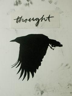 "cinoh:    artspotting:    > Mark Golbach ""Crow/Thought"" via Each Little World"