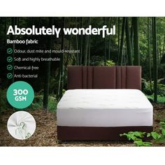 Egan Bamboo Mattress Protector - Online Only - White - Matt Blatt Bed Pads, Body Fluid, King Size Quilt, Queen Mattress, Mattress Protector, Dust Mites, Bed Covers, Fabric Covered, Bag Storage
