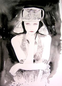 Thandie as Cleopatra | Cate Parr #watercolor #fashion #illustration