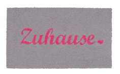 Kokosmatte Zuhause pink-grau
