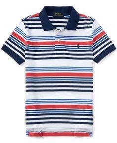 Ralph Lauren Little Boys\u0026#39; Striped Polo Shirt