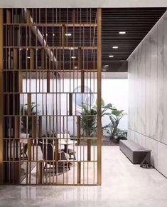 stainless steel art screen in 2020 Living Room Partition Design, Room Partition Designs, Screen Design, Art En Acier, Stainless Steel Flat Bar, Jaali Design, Partition Screen, Divider Screen, Divider Design