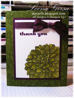 Stampin' Up! Regarding Dahlias, A La Cards: Thank you Dahlia