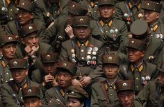 NORTH KOREAN MILITARY MEDALS | soldier decorated with military medals joins thousands of soldiers ...