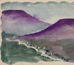 Georgia O'Keeffe, Untitled (Landscape) 1917