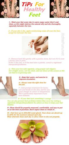 Tips for healthy feet!