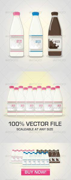 3 Color Milk Bottle Package