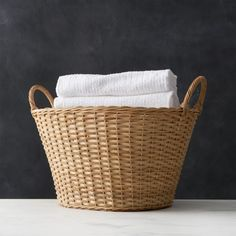 Wicker Laundry Basket at Crate and Barrel Canada. Discover unique furniture and decor from across the globe to create a look you love.