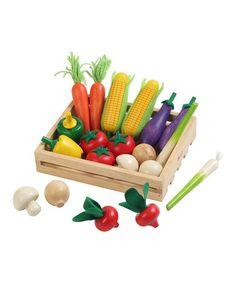 Toy Vegetable & Crate Set #zulily #zulilyfinds