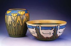 Saturday Evening Girls Pottery - wish I could find a piece around here...