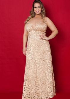 Column Bateau Neckline Lace Floor Length Plus Size Evening Dress / Prom Dresses/ Mother of The Bride Dresses