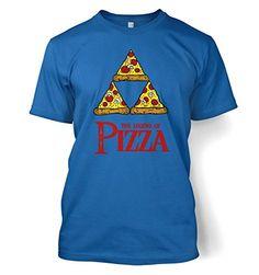 """Legend Of Pizza T-shirt - Gamer Gaming Geeky Tshirt - Royal Large (42/44"""") Gaming tshirts by Something Geeky http://www.amazon.com/dp/B00FRLMB0Y/ref=cm_sw_r_pi_dp_Qwogvb183QYEV"""