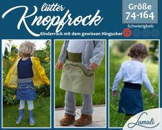 Lütter Knopfrock - Another! Baby Sewing, Sew Baby, Retro, Pattern, Cards, Shopping, Stitching, Dressmaking, Kids Pants