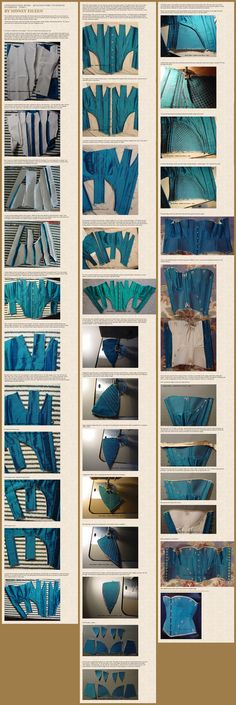 Anyone who has ever tried knows that corsets can be extremely difficult, especially if you have never made one before. This beautiful Quilted Gore Corsettutorialby Sidneyeileen shows step-by-step how it was done. She has tons of beautiful corsets and dresses in her gallery as well!