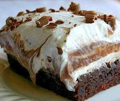 BROWNIE REFRIGERATOR CAKE | best healthy recipes in the world