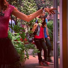 Here is a sweet pic of Auslly Coming Back from school