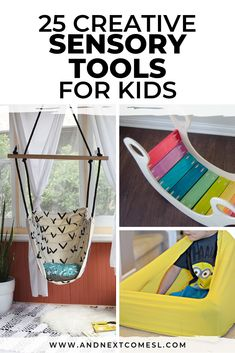 Make your own sensory tools for vestibular and proprioceptive sensory input with these brilliant DIY sensory hacks! They're seriously amazing for kids with autism or sensory processing disorder. Sensory Activities For Autism, Sensory Tools, Sensory Diet, Infant Activities, Activities For Kids, Sensory Play, Sensory Bags, Indoor Activities, Autism Education