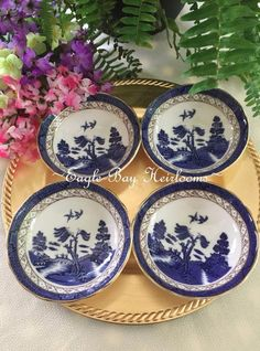 Willow Pattern Booths,willow England Porcelain Bowl-saucer,set Of 2 Pieces